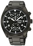 Seiko #SNN233 Men's Black IP Stainless Steel Chronograph Watch