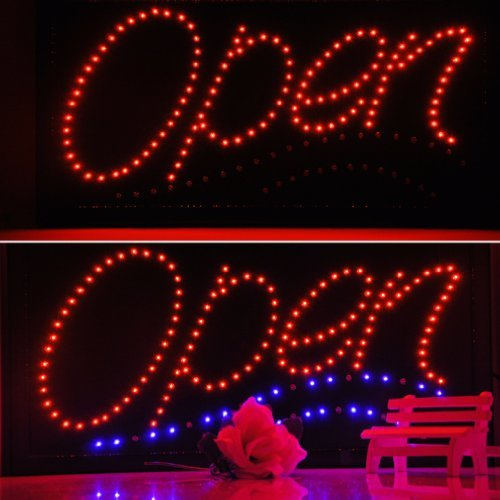 "Bright Led Open Sign Animated Neon Light 19"" X 10"" Business/Atm/Coffee/Bar (Us Plug)"