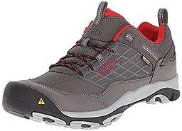 KEEN Men\'s Saltzman WP Shoe, Magnet/Racing Red, 10.5 M US
