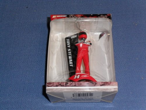51rNE6Ur+iL 2011 NASCAR Christmas Collectible Ornament . . . Tony Stewart #14 Office Depot Driver Figure