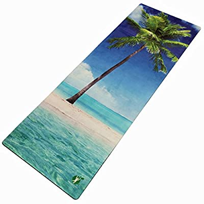 Non Slip Yoga Mat Combo 2 in 1. Best For Hot Yoga / Bikram, Pilates, Yoga. Exclusive Designs. Includes Carrying Strap, Eco Friendly, Premium Quality Organic Rubber With Integrated Towel