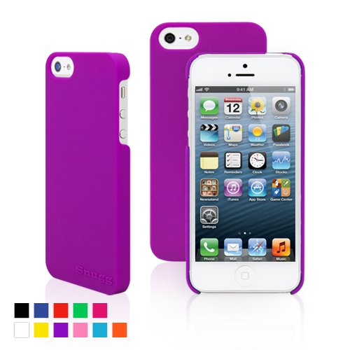 Snugg iPhone 5 / 5S Ultra Thin Case in Purple - High Quality Slim Profile Non Slip, Protective and Soft to touch for Apple iPhone 5 / 5S