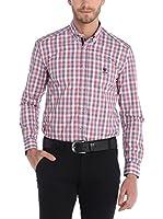 SIR RAYMOND TAILOR Camisa Hombre (Rojo / Azul)