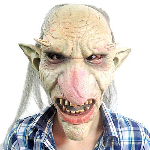 Beautylife88 #0163 Latex Halloween Costume Mask Creepy Ghost Devil Face Mask (Devil Face Halloween)