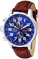 Invicta Men's 3328 Force Collection Stainless Steel Left-Handed Watch with Leather Band