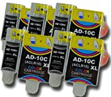 The Ink Squid 5 Sets Of Advent 10 Abk10 /Aclr10 Xl Black And Colour High Capacity Compatible Ink Cartridges For Advent A10 Aw10 And Awp10 All-In-One Printers