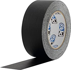 "ProTapes 46 Crepe Paper Masking Tape, 60 yds Length x 1"" Width, Black (Pack of 1)"