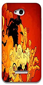 The Racoon Grip The Smoker hard plastic printed back case / cover for HTC Desire 616