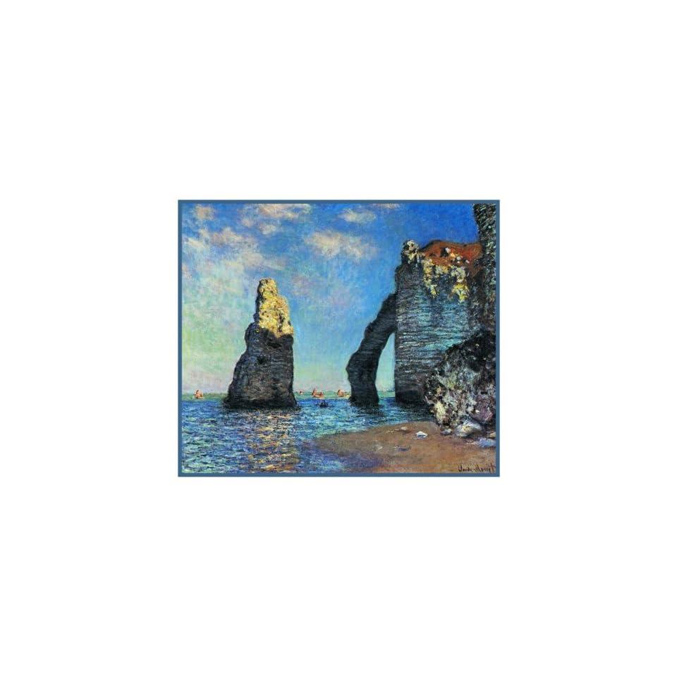 The Cliffs at Etretat Impressionist Monet Counted Cross Stitch Pattern