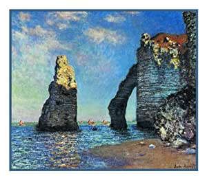 The Cliffs At Etretat By Claude Monet Counted