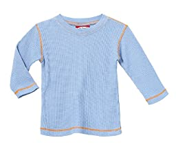 City Threads Little Boy and Girl Solid Thermal Tee T Shirt Shirt, Bright Light Blue, 2T