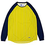 ballaholic ボーラホリック STRIPE COOL LONG TEE 長袖 Tシャツ ロンティー BHCTS-00051 YELLOW×NAVY YELLOW×NAVY XL