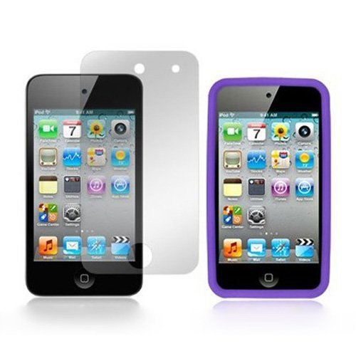 TOOGOO(R) 4G Touch Purpur Silikon-Tasche