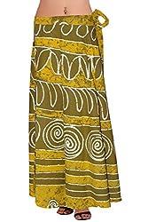 Wisegirls Jaipuri Block Printed Wrap Skirt