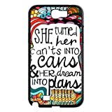Quotes Personalized Hard Plastic Back Protective Case for Samsung Galaxy Note 2 N7100