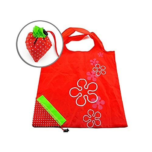 WMA Strawberry Folding Fold up Reusable Compact Eco periodic duty Recycling use Shopping Bag