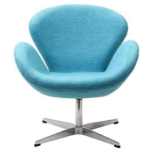 bright blue lounge chair