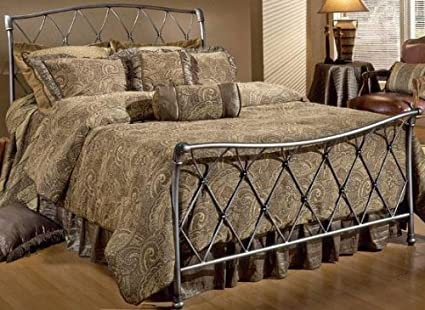 Sullivan Silver Bed, QUEEN, BRUSHED SILVER