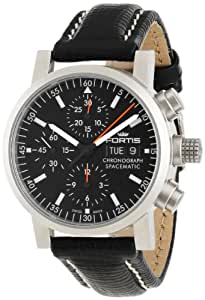 Fortis Men's 625.22.31 L.01 Flieger Black Automatic Chronograph Leather Watch