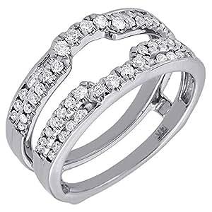 Amazon.com: 14K White Gold Round Cut Diamond Solitaire