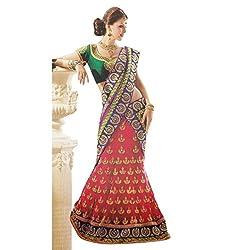 Aagaman Fashions Net,Satin Lehenga Choli (TSFL5006_Multi)