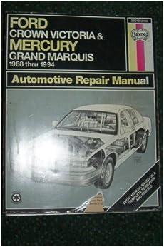 Ford Crown Victoria Amp Mercury Grand Marquis 1988 Thru 1994 border=