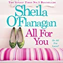All for You Audiobook by Sheila O'Flanagan Narrated by Aoife McMahon