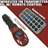 I-mobile Sd/mmc/usb/mp3 Wireless in Car Fm Transmitter with Remote (Red)