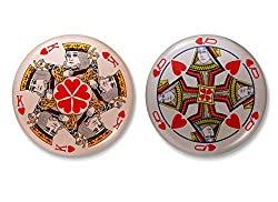 King and Queen of Hearts - Couples Badges (Set of 2)