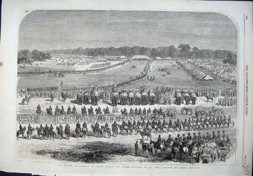 1864 Durbar Native Princes Nobles John Lawrence Lahore