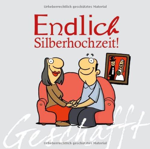 10 X Einladungskarten Zur Silberhochzeit, Grauer Rand Links, Helle ...