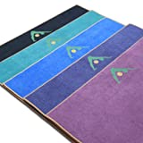 """Aurorae Synergy 2-in-1 Yoga Mat with Integrated Towel - 5mm Thick, 72"""" Long. #1 in Customer Statisfaction. US Patent Protected"""