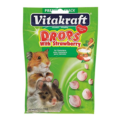 Vitakraft Hamster Strawberry Drops Treat, 5.3 Ounce Pouch (Yogurt Hamster compare prices)