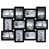 Bilderrahmen 60x45x2cm für 12 Bilder Multibilderrahmen 10x15cm Schwarz Fotorahmen Bildergalerie