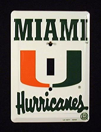 Buy Miami Hurricanes Collegiate Aluminum Novelty Single Light Switch Cover Plate by Smart Blonde