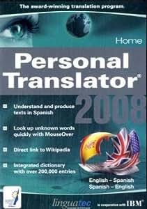 Personal Translator 2008 Home English - Spanish