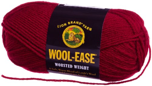 Lion Brand Yarn 620-138 Wool-Ease Yarn, Cranberry