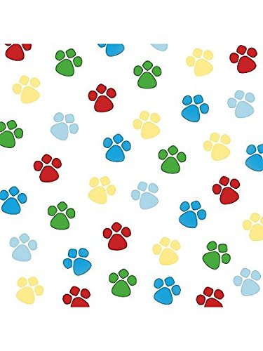 Creative Converting Paw-Ty Time Birthday Beverage Napkins, 18-Count front-535874