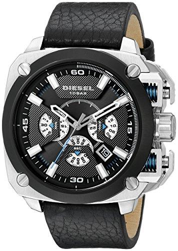 diesel-mens-dz7345-bamf-stainless-steel-black-leather-watch