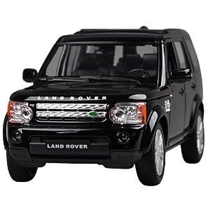 Fahrzeuge Spielzeug Fertigmodell Modellauto 1:24 Land Rover Discoverer Schwarz Diecast Modell Autos