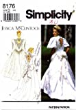 51rNvjSxZDL. SL160  Simplicity 8176 Sewing Pattern Jessica McClintock Bridal Gowns Dress Size 4   8   Bust 29 1/2   31 1/2