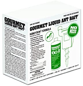 Antopia 21C Ant Control Kit with 2 Bait Stations and 1 Quart Gourmet Liquid Ant Bait