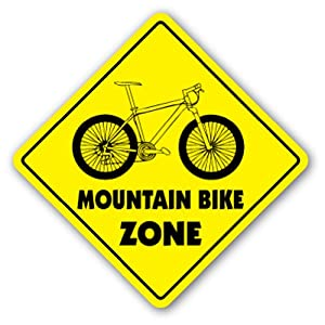 MOUNTAIN BIKE ZONE Sign xing gift novelty jump trail tires brakes gear oil from SignMission
