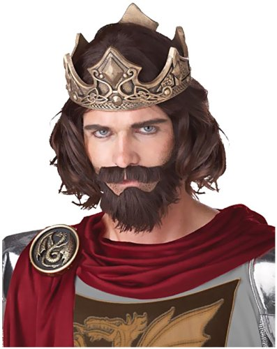 California Costume Collection - Medieval King (Brown) Adult Wig