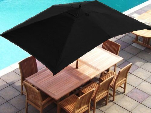 Cheap Black Replacement Rectangular Parasol Cover 3x2 Metres 6
