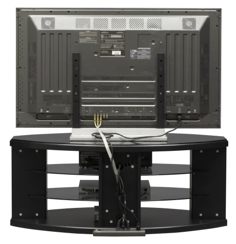 Bush Furniture Universal TV/VCR Video Base, Satin Black