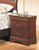 Hot Sale Coaster Louis Philippe Style Night Stand, Cherry Finish