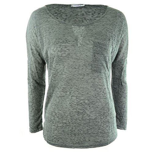 Innocenti Lifesty Casual Top donna grigio stile gotico punk Grey S