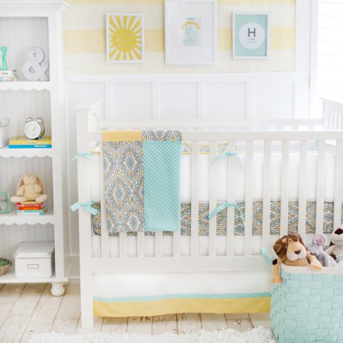 New Arrivals Dreamweaver 4 Piece Set, Yellow/Aqua