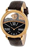 """Versace Women's 93Q80BD598 S497 """"Krios"""" Rose Gold Ion-Plated   Watch with Leather Band"""